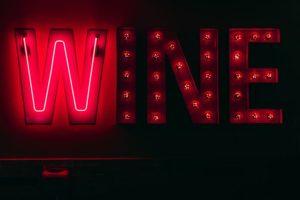 neon wine sign