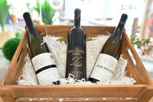 bottles of wine in wooden box