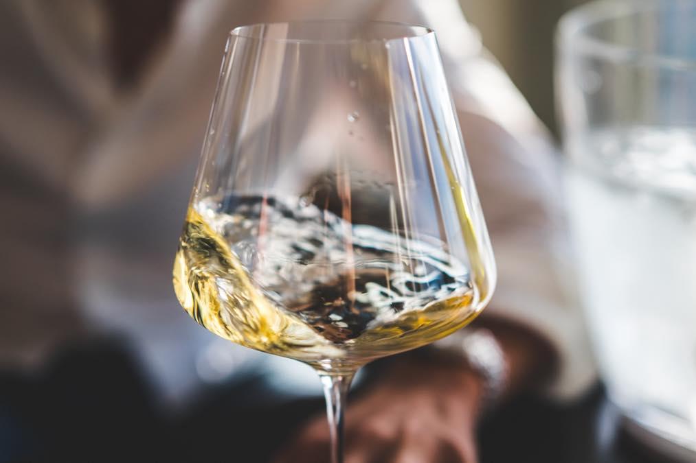 Swirled White Wine